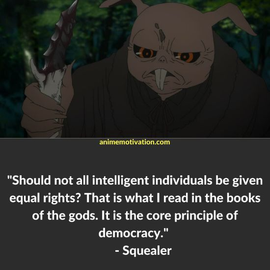 Squealer quotes Shinsekai Yori 1