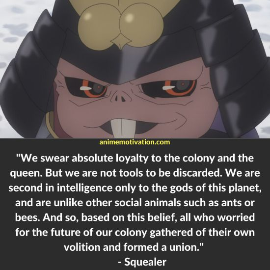 Squealer quotes Shinsekai Yori
