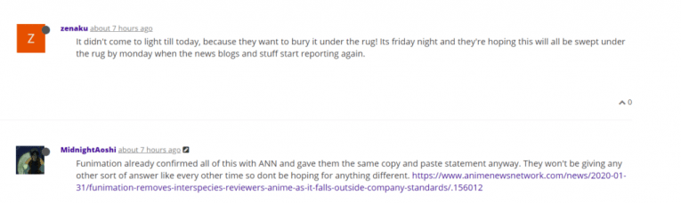 funimation ishuzoku reviewers forums cancelled