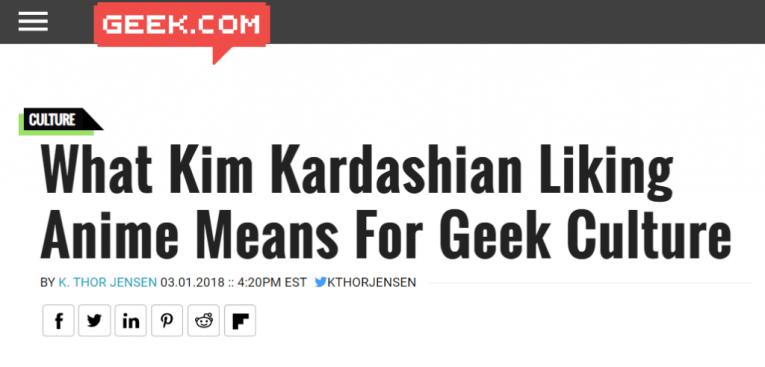 geek.com kim k anime title ridiculous