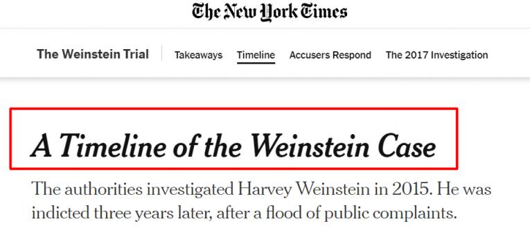 harvey weinstein case nyt