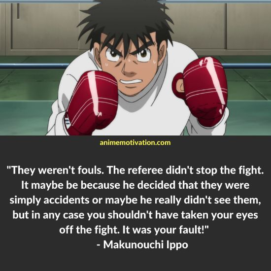 Makunouchi Ippo quotes