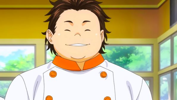fat anime boy food wars