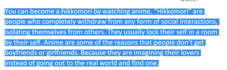 hikikomori academia.edu anime bad for you