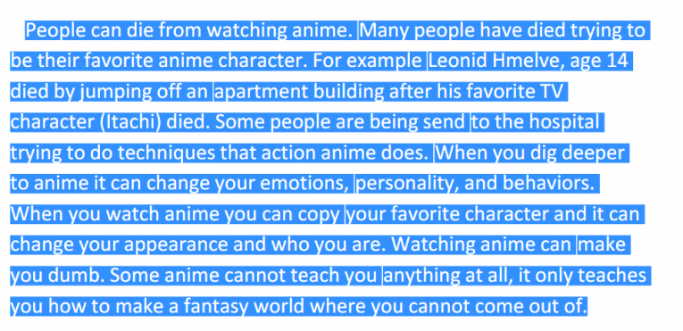 people die from watching anime criticism