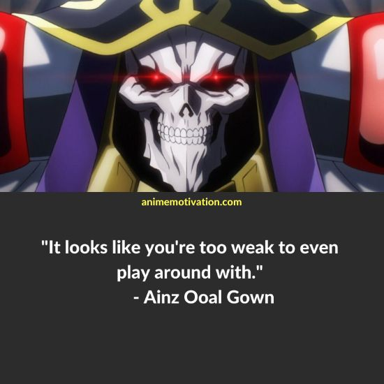 Ainz Ooal Gown quotes 1