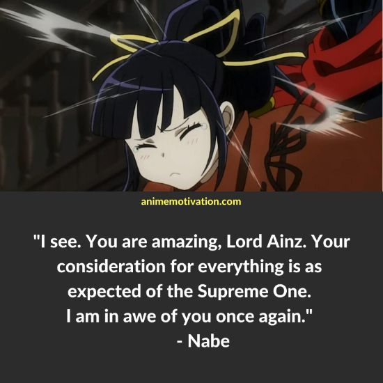Nabe overlord quotes