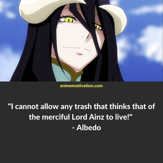 albedo overlord quotes 1