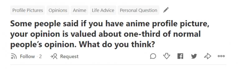 anime profile pictures quora