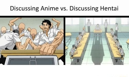 anime vs hentai discussions meme