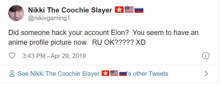 elon must anime profile hypocrisy