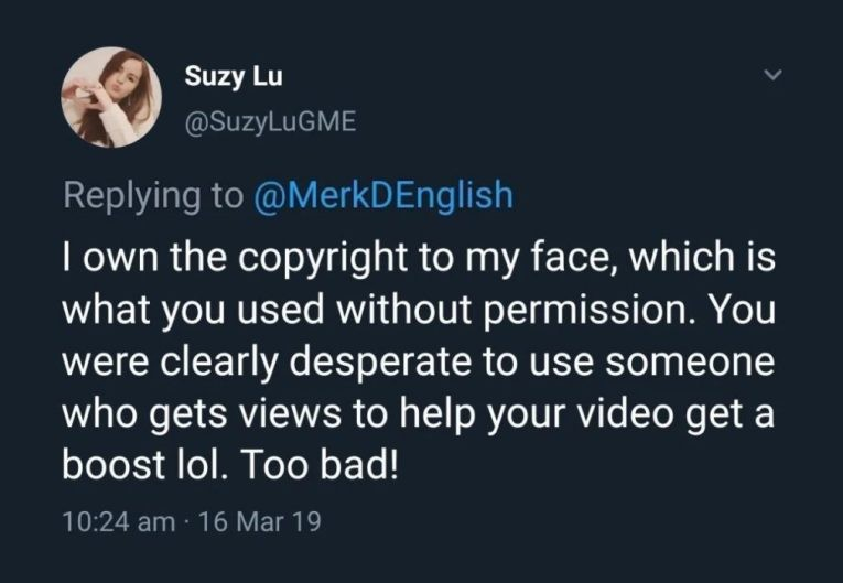 twitter suzylugme iownthecopyrighttomyface