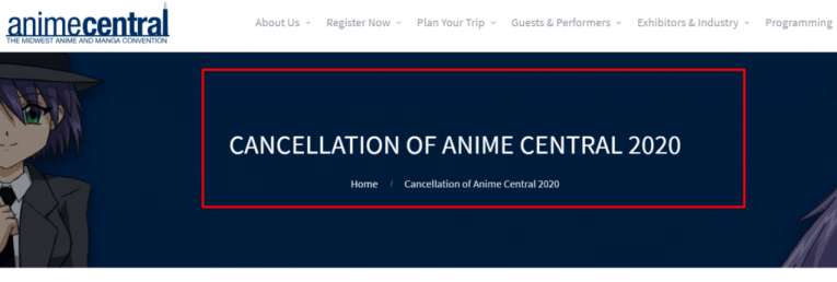 anime central cancelled