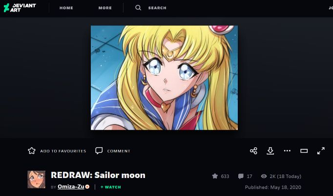 deviant art sailor moon redraw