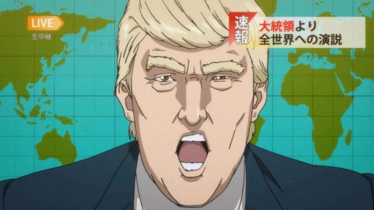 donald trump anime character inuyashiki