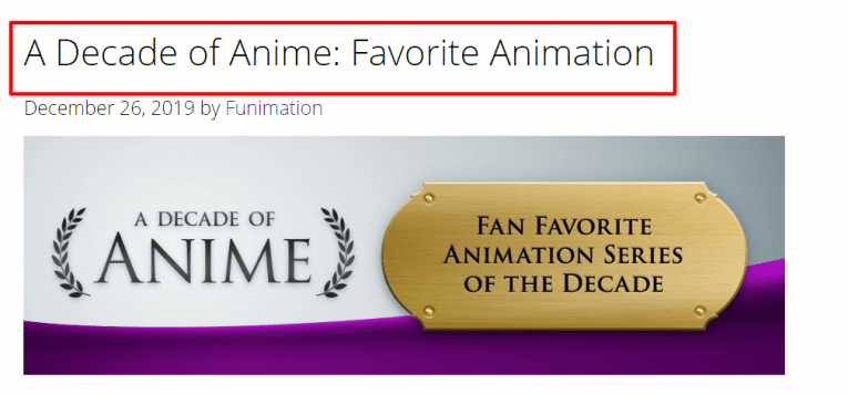funimation best animation anime decade