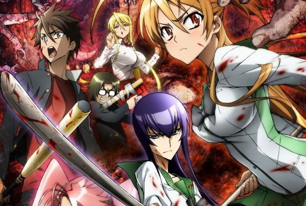 highschool of the dead anime characters cover