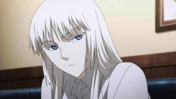 jormungand koko white hair blue eyes