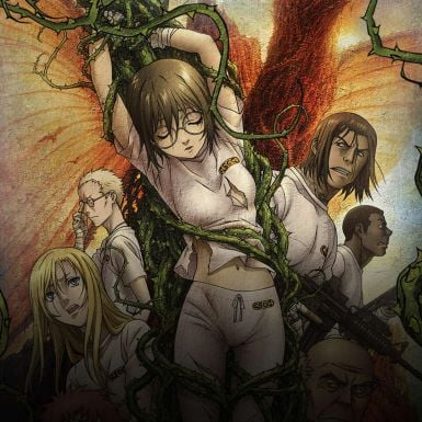 king of thorn anime characters cover