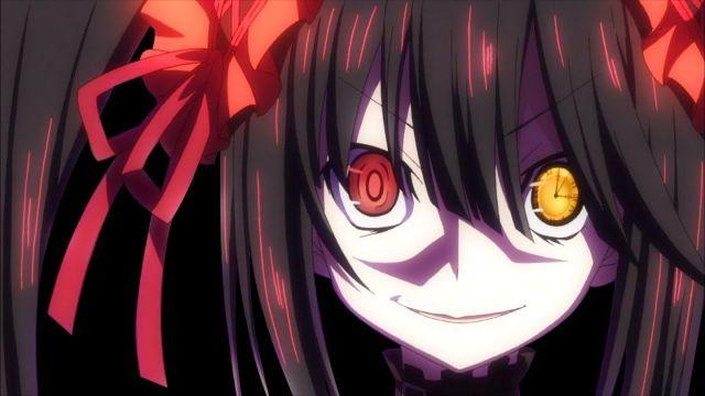 kurumi tokisaki yandere evil eyes