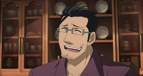 maes hughes smile fullmetal alchemist