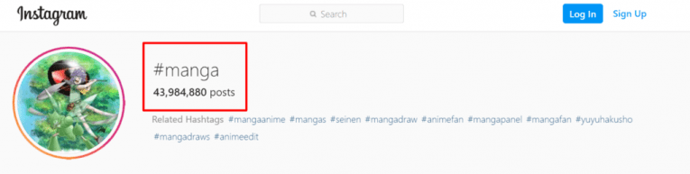 manga hashtag instagram