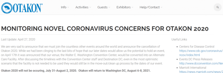 otakon cancelled