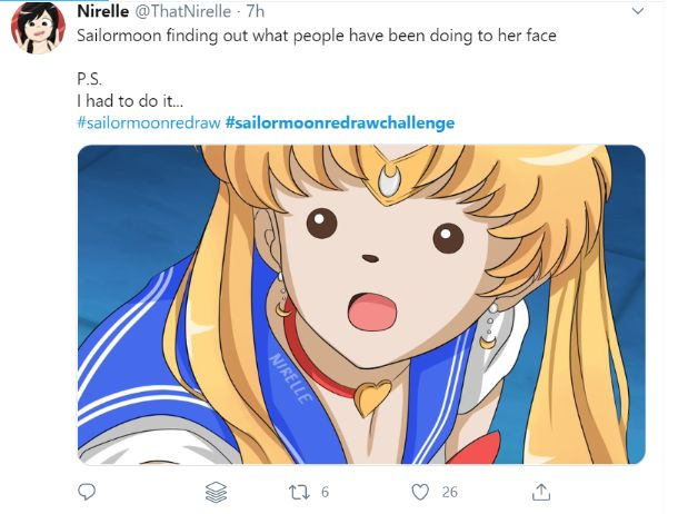 sailor moon redraw funny face
