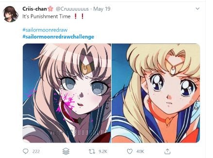 sailor moon redraw twitter