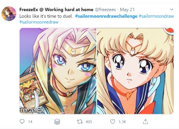 sailor moon redraw yugioh