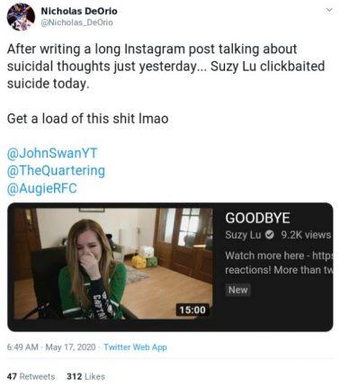 suicide fake video suzy lu