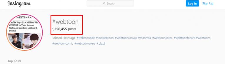 webtoons hashtag instagram