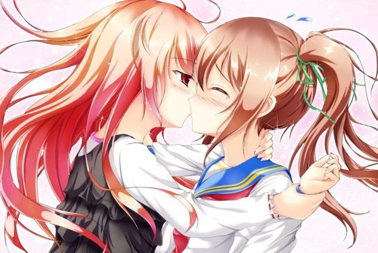 yuri anime girls wallpaper cute