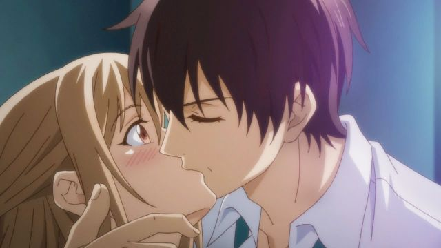 anime romance kissing 1