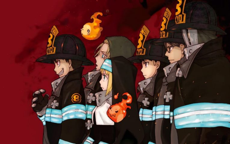 fire force anime wallpaper main characters