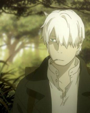 mushishi anime main character white hair