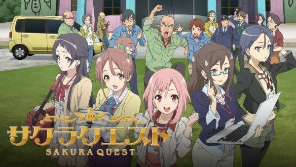 sakura quest anime characters cover 1