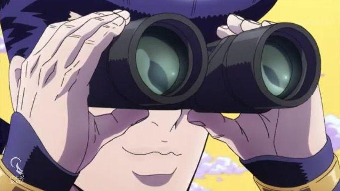 anime binoculars smile jojo