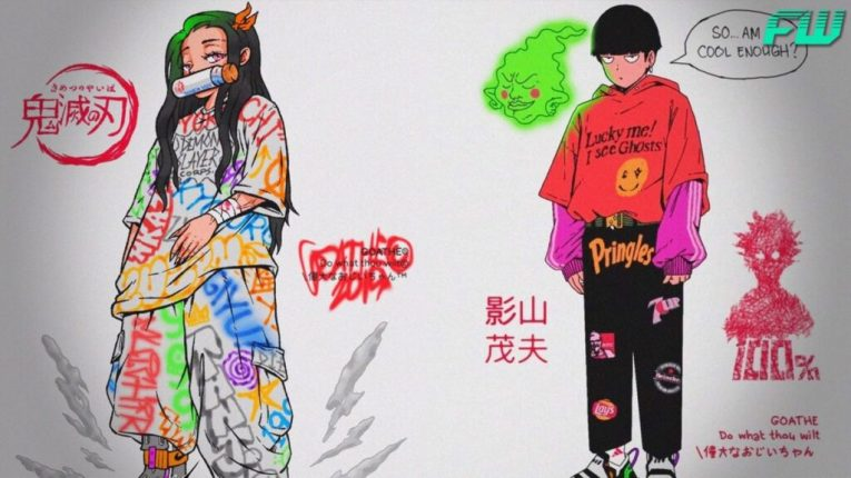 anime drawings with a urban hip hop style