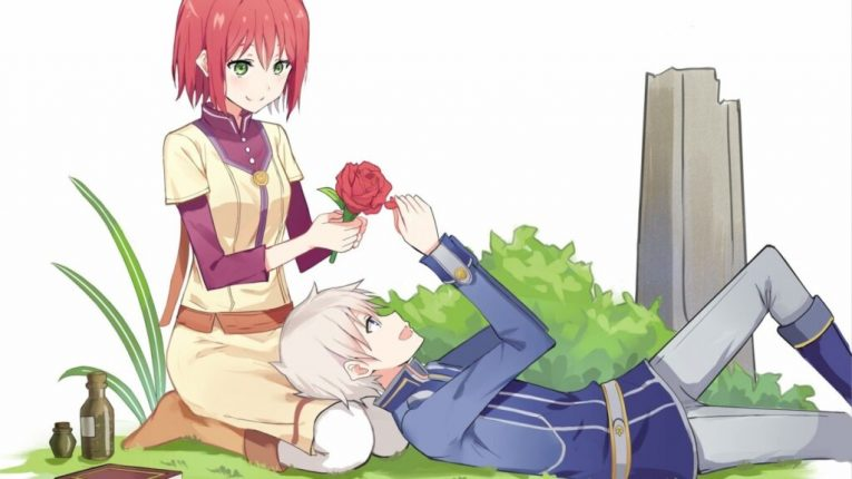 anime lap pillow snow white with the red hair wallpaper
