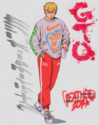 great teacher onizuka anime art goathe hip hop