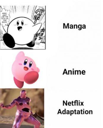 kirby anime meme netfli
