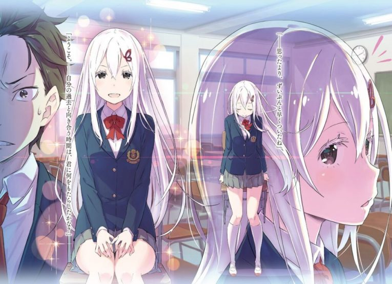 re zero anime wallpaper emilia subaru