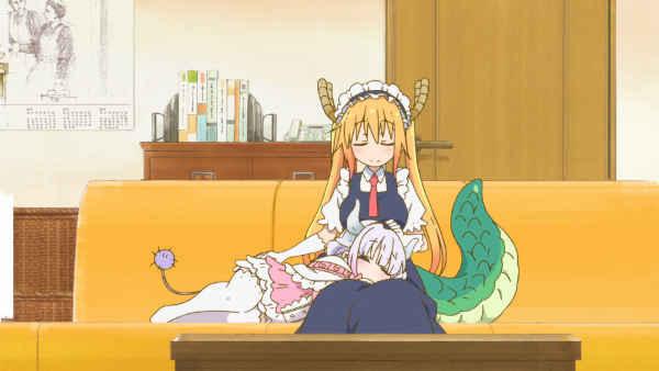 tohru and kanna lap pillow