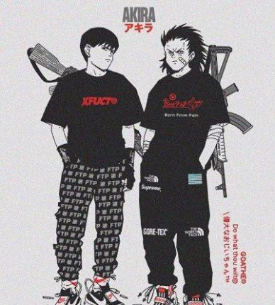urban anime art goathe akira