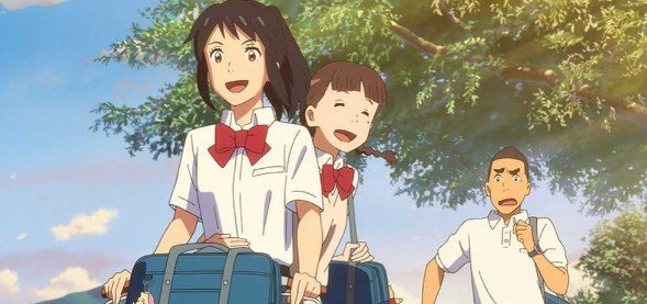 your name anime characters scene