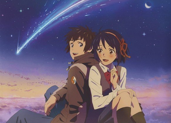 your name anime characters smiling