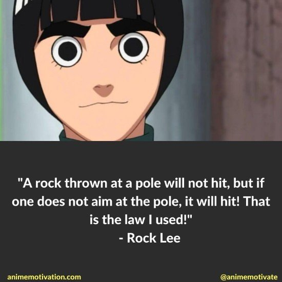 Rock Lee quotes naruto 7