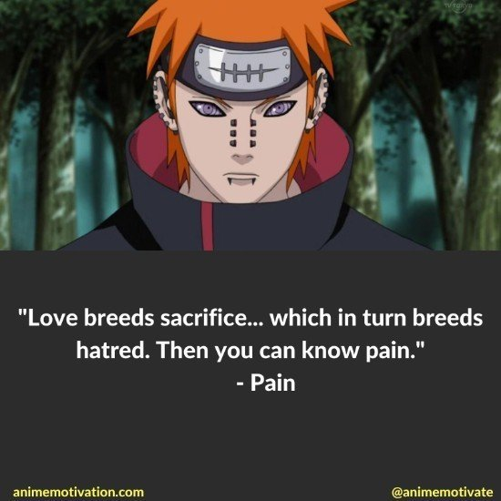 pain quotes naruto
