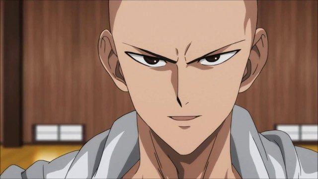 saitama one punch man serious face